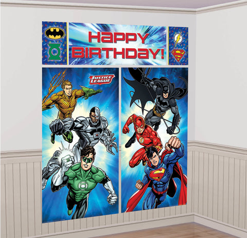 Justice League Scene Setters Wall Decorating Kit