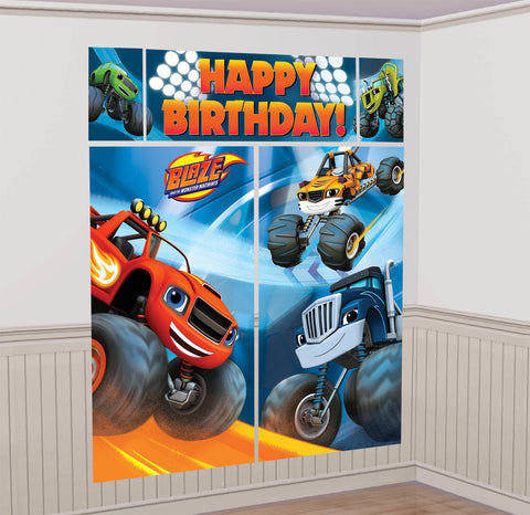Blaze and the Monster Machines Scene Setters Wall Decorating Kit