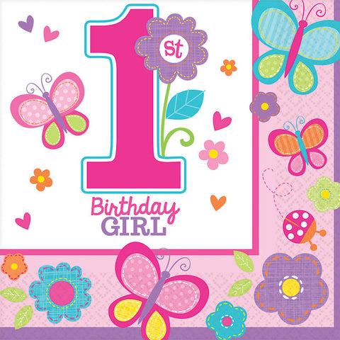 Sweet Birthday Girl Luncheon Napkins 36ct.