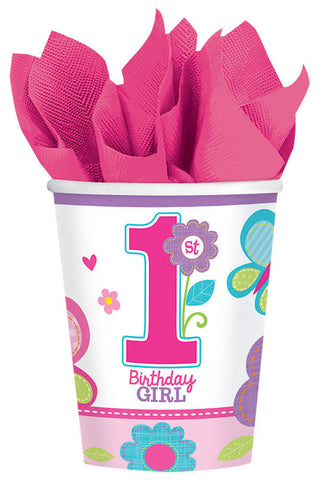 Sweet Birthday Girl 9 oz. Cups 18ct.
