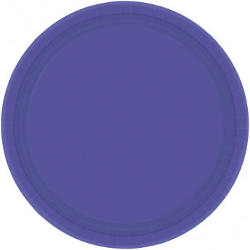 "New Purple 7"" Paper Plates 20ct."