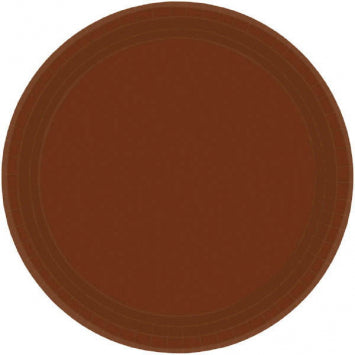 "Chocolate Brown 7"" Paper Plates 20ct."