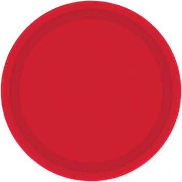 "Apple Red 7"" Paper Plates 20ct."