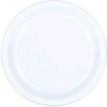 "Clear 7"" Plastic Plates 20ct."