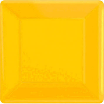 "Yellow Sunshine 7"" Square Paper Plates 20ct."