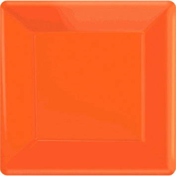 "Orange Peel 7"" Square Paper Plates 20ct."