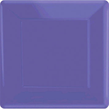 "New Purple 7"" Square Paper Plates 20ct."