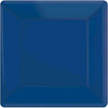 "Bright Royal Blue 7"" Square Paper Plates 20ct."