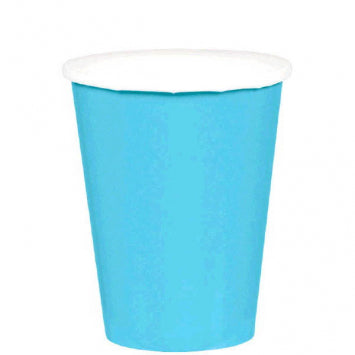 Caribbean Blue 9oz. Paper Cups 20ct.