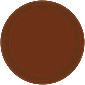 "Chocolate Brown 9"" Paper Plates 20ct."