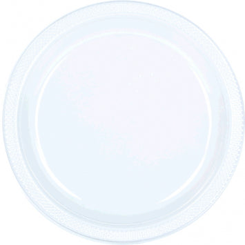 "Clear 9"" Plastic Plates 20ct."