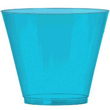 Caribbean Blue Big Party Pack Plastic 9oz. Cups 72ct.