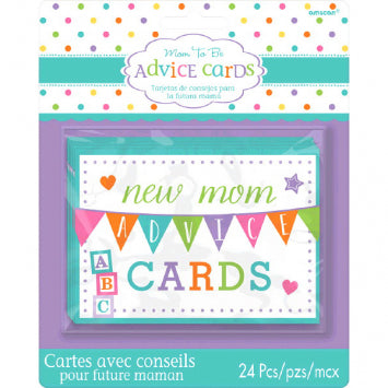Baby Shower New Mommy Advice Cards 24ct.