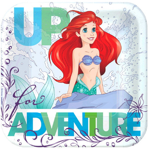 "Ariel Dream Big Square Plates 7"" 8ct."