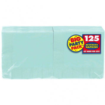 Robin's Egg Blue Big Party Pack Beverage Napkins 125ct.