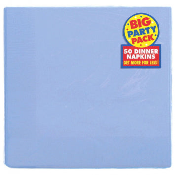 Pastel Blue Big Party Pack 2-Ply Dinner Napkins 50ct.