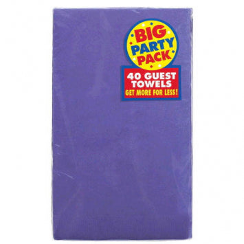 New Purple Big Party Pack 2-Ply Guest Towels 40ct.
