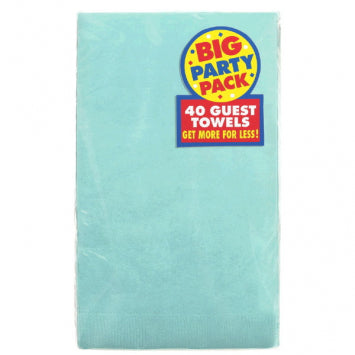 Robin's Egg Blue Big Party Pack 2-Ply Guest Towels 40ct.