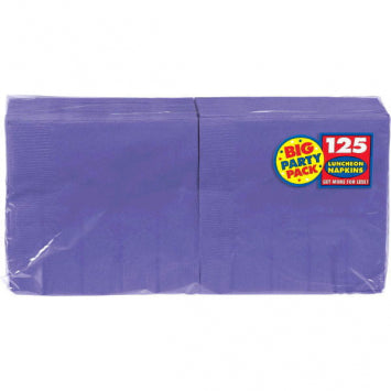 New Purple Big Party Pack Luncheon Napkins 125ct.