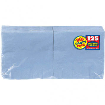 Pastel Blue Big Party Pack Luncheon Napkins 125ct.