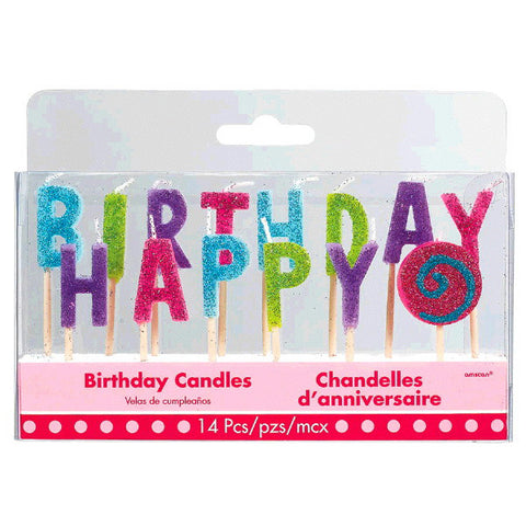 Sweet Party Happy Birthday Pick Candles 14pc.