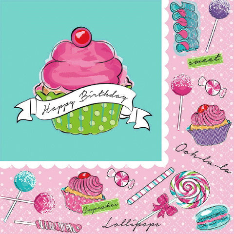 Birthday Sweets Luncheon Napkins 36ct.