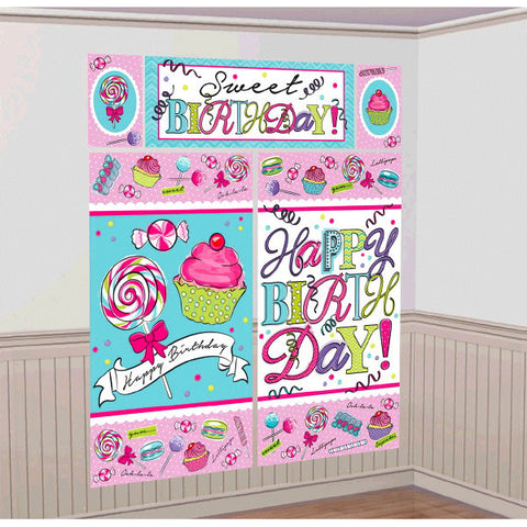 Sweet Party Scene Setters® Wall Decorating Kit