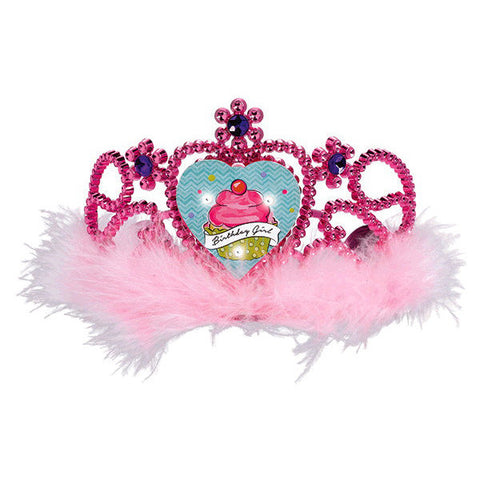 Sweet Party Light Up Tiara w/Marabou