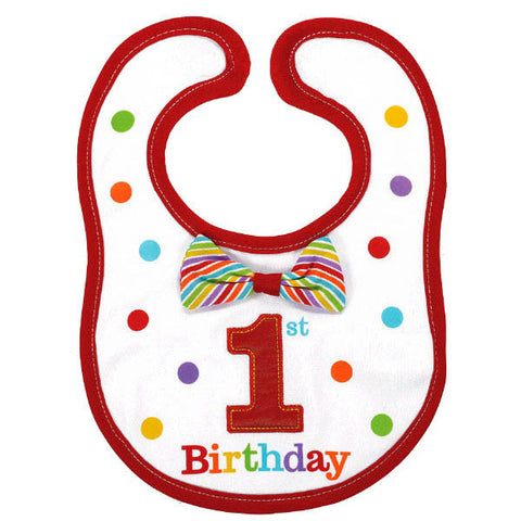 1st Birthday Rainbow Bib-Boy