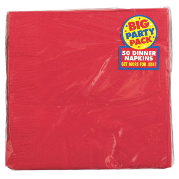 Apple Red Big Party Pack 2-Ply Dinner Napkins 50ct.
