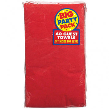 Apple Red Big Party Pack 2-Ply Guest Towels 40ct.