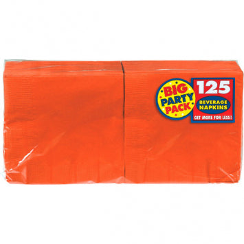 Orange Peel Big Party Pack Beverage Napkins 125ct.
