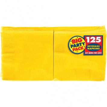Yellow Sunshine Big Party Pack Beverage Napkins 125ct.