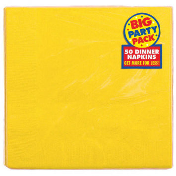 Yellow Sunshine Big Party Pack 2-Ply Dinner Napkins 50ct.