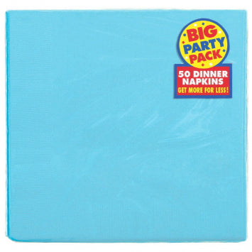 Caribbean Blue Big Party Pack 2-Ply Dinner Napkins 50ct.