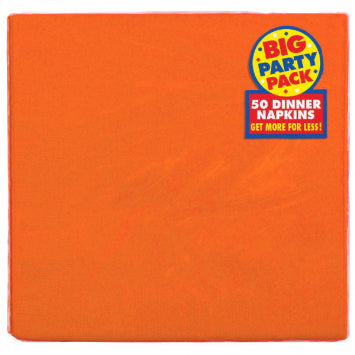 Orange Peel Big Party Pack 2-Ply Dinner Napkins 50ct.