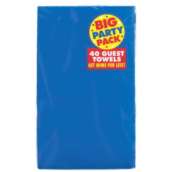 Bright Royal Blue Big Party Pack 2-Ply Guest Towels 40ct.