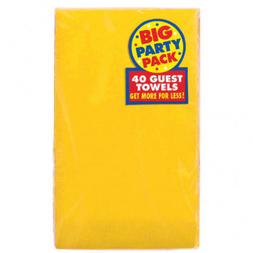 Yellow Sunshine Big Party Pack 2-Ply Guest Towels 40ct.