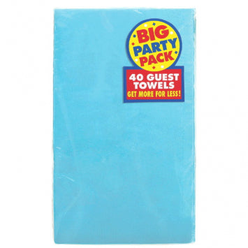Caribbean Blue Big Party Pack 2-Ply Guest Towels 40ct.