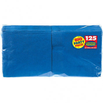 Bright Royal Blue Big Party Pack Luncheon Napkins 125ct.