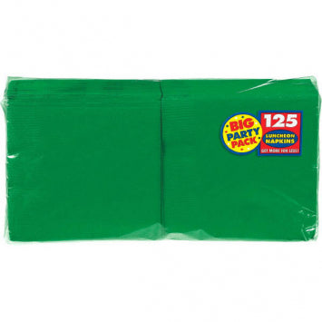 Festive Green Big Party Pack Luncheon Napkins 125ct.