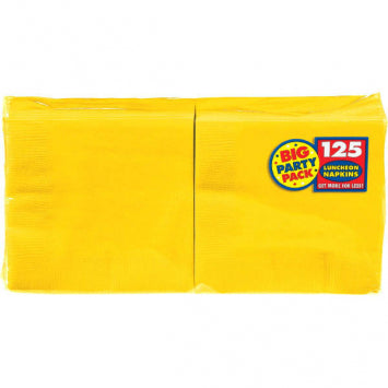 Yellow Sunshine Big Party Pack Luncheon Napkins 125ct.