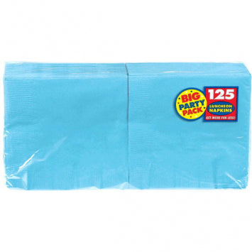 Caribbean Blue Big Party Pack Luncheon Napkins 125ct.