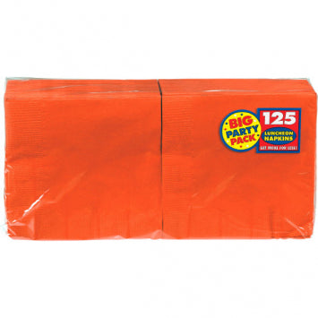 Orange Peel Big Party Pack Luncheon Napkins 125ct.