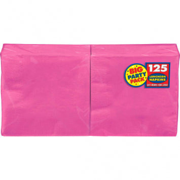 Bright Pink Big Party Pack Luncheon Napkins 125ct.