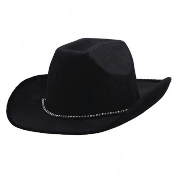 Black Velour Cowboy Hat