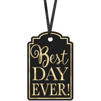 Black - Best Day Ever Printed Tags 25ct.