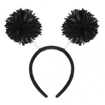 Black Pom Pom Headbopper