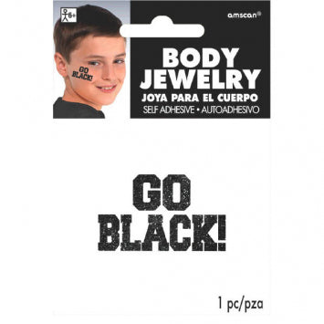 Go Black Glitter Body Jewelry