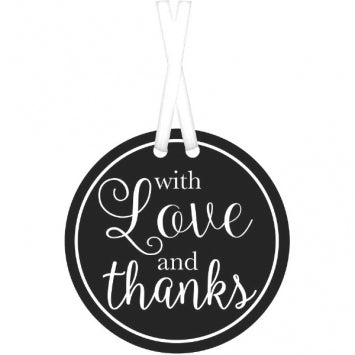 Black - With Love & Thanks Tags 25ct.